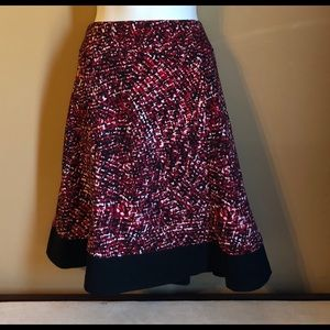 Dresses & Skirts - Red white and black flare skirt.